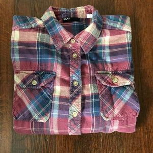 Urban Outfitters BDG Pink Flannel